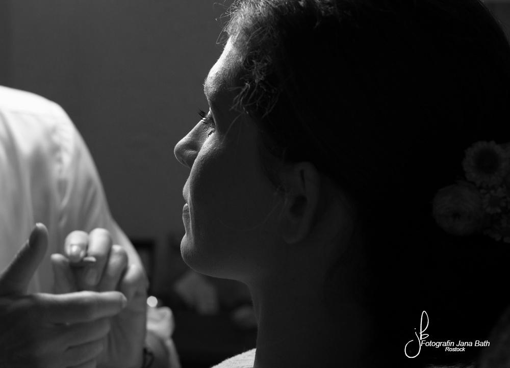 Das professionelle Make up - Hochzeitsfotografin Jana Bath