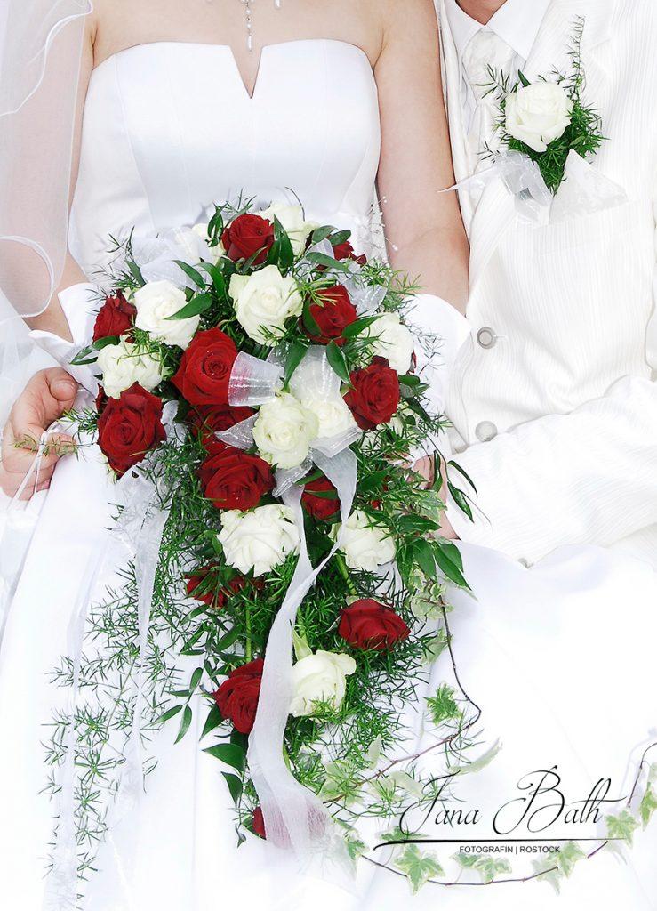 Wasserfallstrauß, Hochzeitsfoto Jana Bath